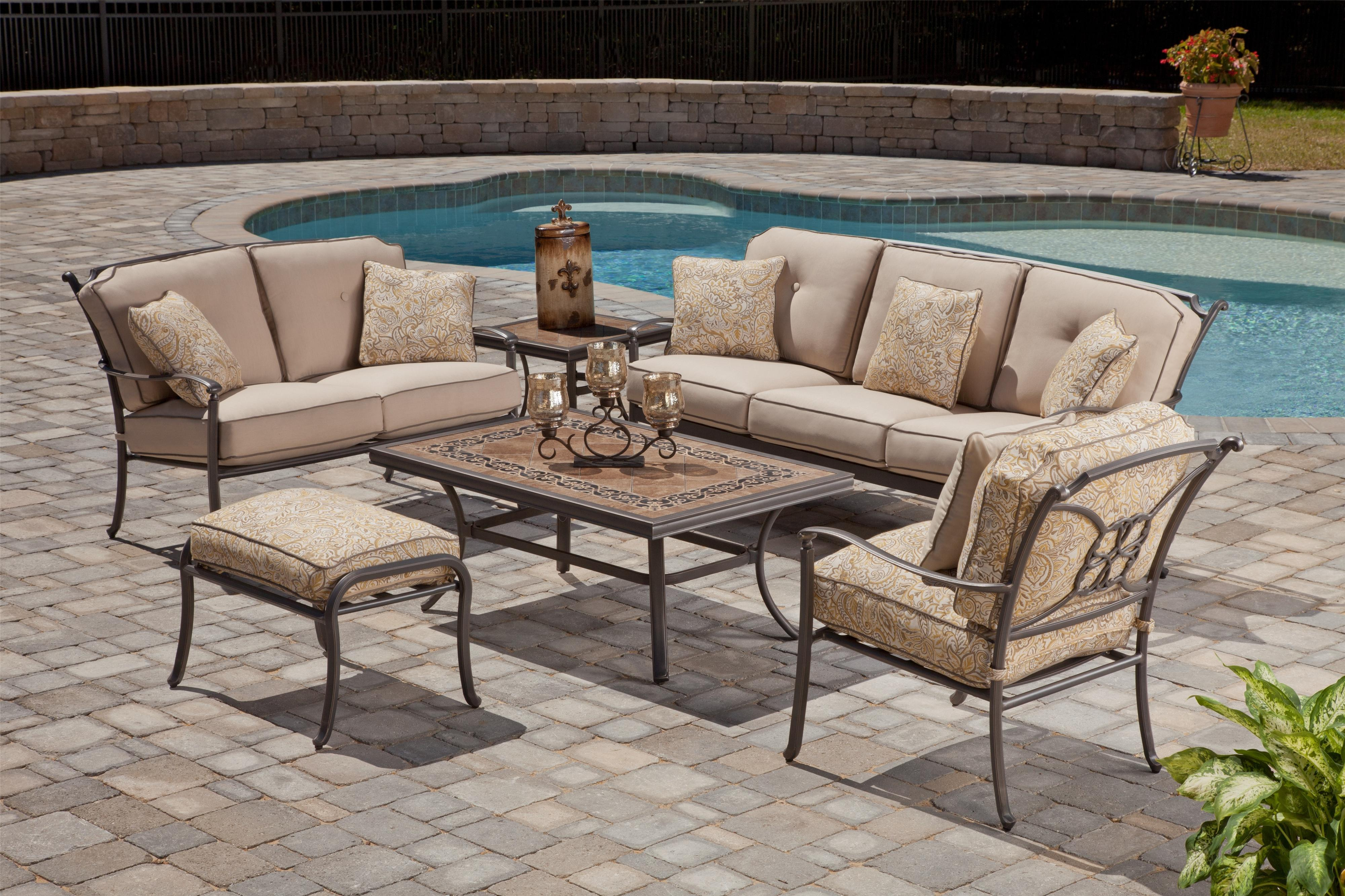 Agio Tradition Alumicast Outdoor Porcelain Top Rectangle ...