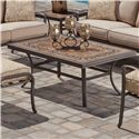Agio Tradition Alumicast Outdoor Porcelain Top Rectangle Coffee Table - AKC07017