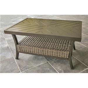 Woven Slat Top Coffee Table
