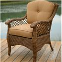 Apricity Outdoor Veranda--Agio Woven Outdoor Dining Chair - Item Number: 0133336