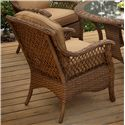Agio Veranda--Agio Outdoor Tan Woven Dining Chair with Seat and Back Cushion - 0133336