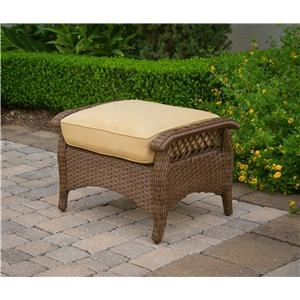 Agio Veranda 2016 Woven Ottoman W/ Cushion