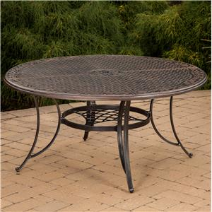 "Agio Vista 60"" Round Cast Top Gathering Table"