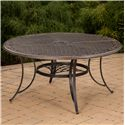 "Agio Vista 60"" Round Cast Top Gathering Table - Item Number: ANS06815P01"