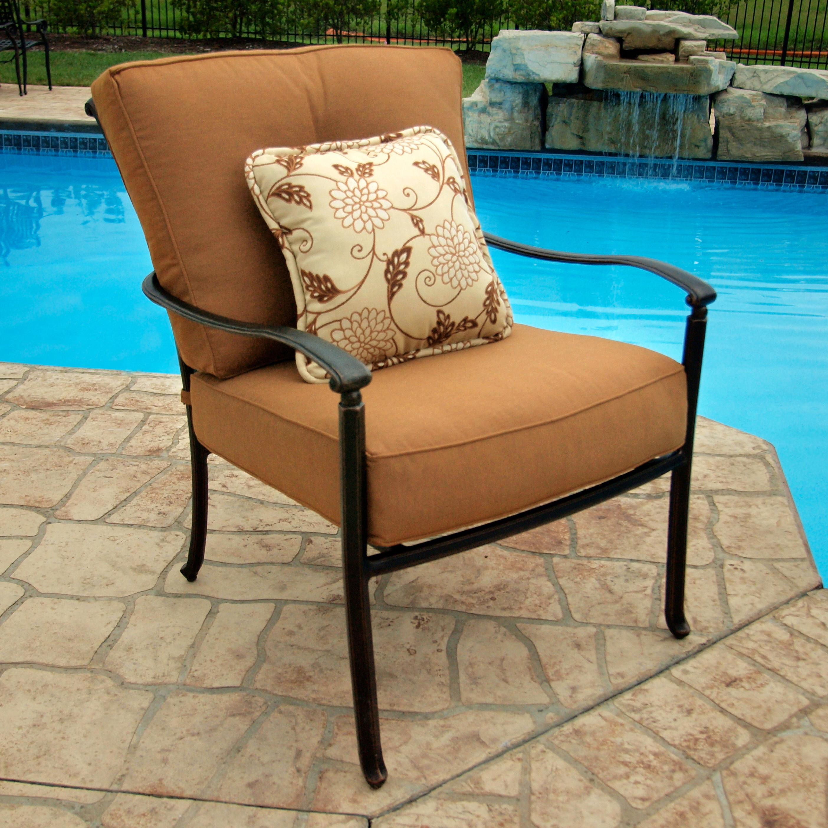 Agio Willowbrook Patio Furniture.Agio Willowbrook Deep Seat Alumicast Outdoor Lounge Chair With