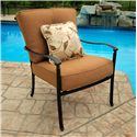Agio Willowbrook  Deep Seat Alumicast Outdoor Lounge Chair with Accent Pillow - AAS21000
