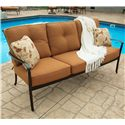 Agio Willowbrook  Deep Seat Alumicast Outdoor Sofa with 2 Accent Pillows - AAS21006
