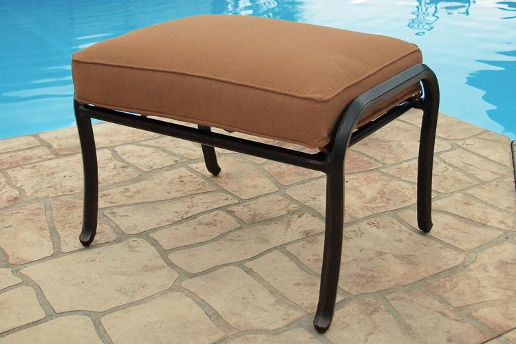 Agio Willowbrook Patio Furniture.Agio Willowbrook Outdoor Aluminum Ottoman Fmg Local Home