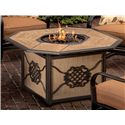 Agio Willowbrook  Aluminum Gas Fire Pit w/ Tile Inlay Top - ARS03001