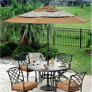 Agio Willowbrook  9' Market Umbrella w/ Base