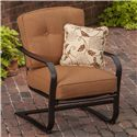 Agio Willowbrook  5 Piece Fire Pit Set with Spring Chairs