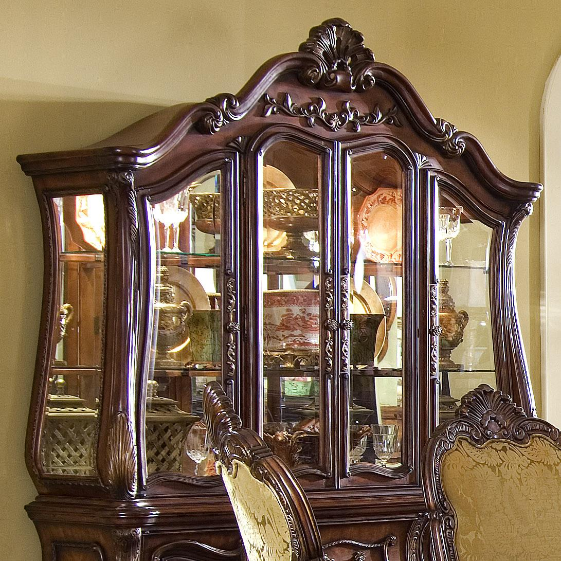 Michael Amini Furniture Store Locations Michael Amini Chateau Beauvais China Cabinet Glass Hutch - Olinde's ...