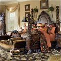 Michael Amini Essex Manor King Poster Bed with Light Feature - Bed Shown May Not Represent Size Indicated