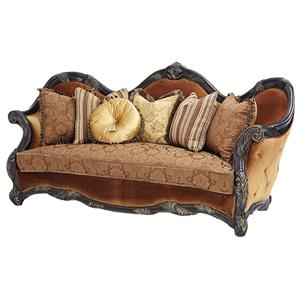 Michael Amini Essex Manor Wood Trim Sofa