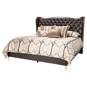 Michael Amini Hollywood Loft King Size Upholstered Platform Bed