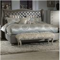 Michael Amini Hollywood Swank King Upholstered Bed - Item Number: 03014-78+03137-78