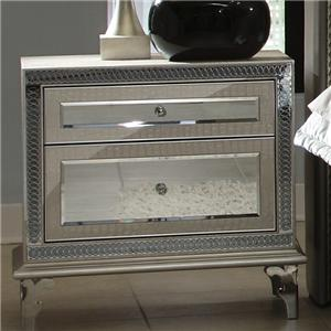 Michael Amini Hollywood Swank Upholstered Nightstand