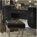 Michael Amini Hollywood Swank Upholstered Vanity - Item Number: 03058-81