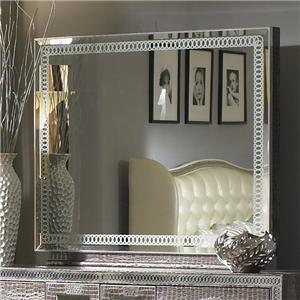 Captivating Michael Amini Hollywood Swank Rectangle Dresser Mirror