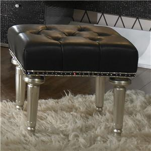 Michael Amini Hollywood Swank Vanity Bench