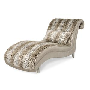 Michael Amini Hollywood Swank Armless Animal Print Chaise