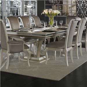 Michael Amini Hollywood Swank 9 Piece Table And Chair Set