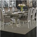 Michael Amini Hollywood Swank Large Rectangular Dining Table - Item Number: N03002B-08+03002T-11