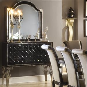 Michael Amini Hollywood Swank Sideboard and Mirror