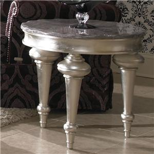 Michael Amini Hollywood Swank Chair Side Table