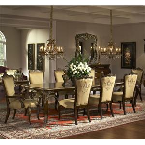 Michael Amini Imperial Court 9 Piece Dining Set