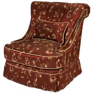 Michael Amini Imperial Court - MERLO Wood Trim Swivel Chair
