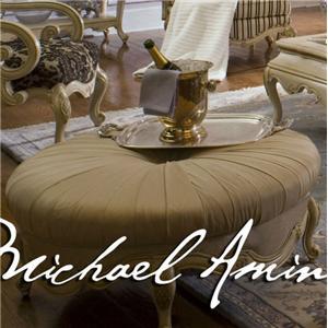 Michael Amini Lavelle Round Ottoman