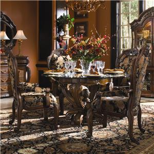 Michael Amini Oppulente 5-Piece Round Dining Table Set