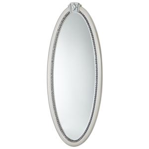 Overture Oval Wall Mirror with Jewelry Storage by Michael Amini