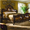 Michael Amini Palais Royale California King Mansion Bed - Item Number: 71000CK-35