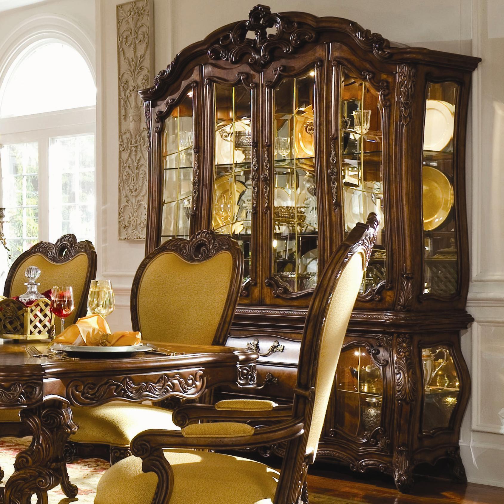Michael Amini Palais Royale China Cabinet with Beveled Glass Doors ...