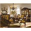Michael Amini Palais Royale China Cabinet Buffet Base - Shown as Part of China Cabinet with Dining Table, Arm Chairs, Side Chairs, Sideboard, and Mirror
