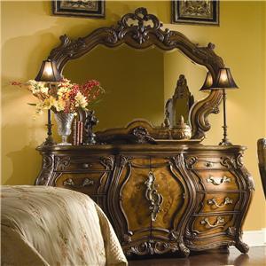 Michael Amini Palais Royale Triple Dresser & Mirror