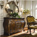 Michael Amini Palais Royale Gold Leafed Sideboard Mirror - Shown with Sideboard and Arm Chair
