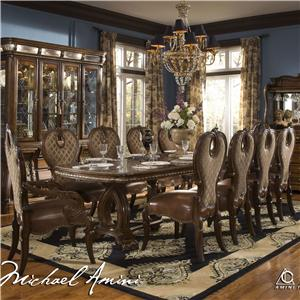 Michael Amini The Sovereign Round Dining Table w/ 6 Side Chairs ...