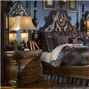 Michael Amini The Sovereign Night Stand w/ Three Drawers - Nightstand Shown with Nightstand Mirror