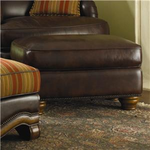 Michael Amini Tuscano All Leather Ottoman