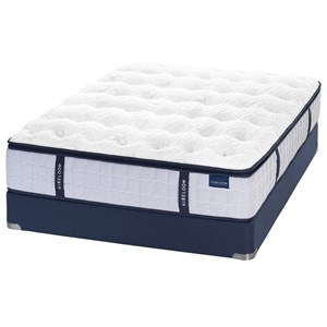 Aireloom Bedding Maritime Seaside Plush Queen Plush Coil on Coil Mattress Set