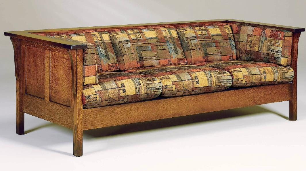 Amish Upholstery Cubic Panel Sofa by AJ's Furniture at Mueller Furniture