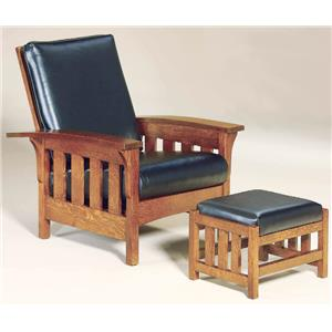 AJ's Furniture Amish Upholstery Chair & Ottoman Set