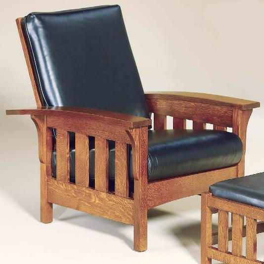 Amish Upholstery Bow Arm Chair by AJ's Furniture at Mueller Furniture
