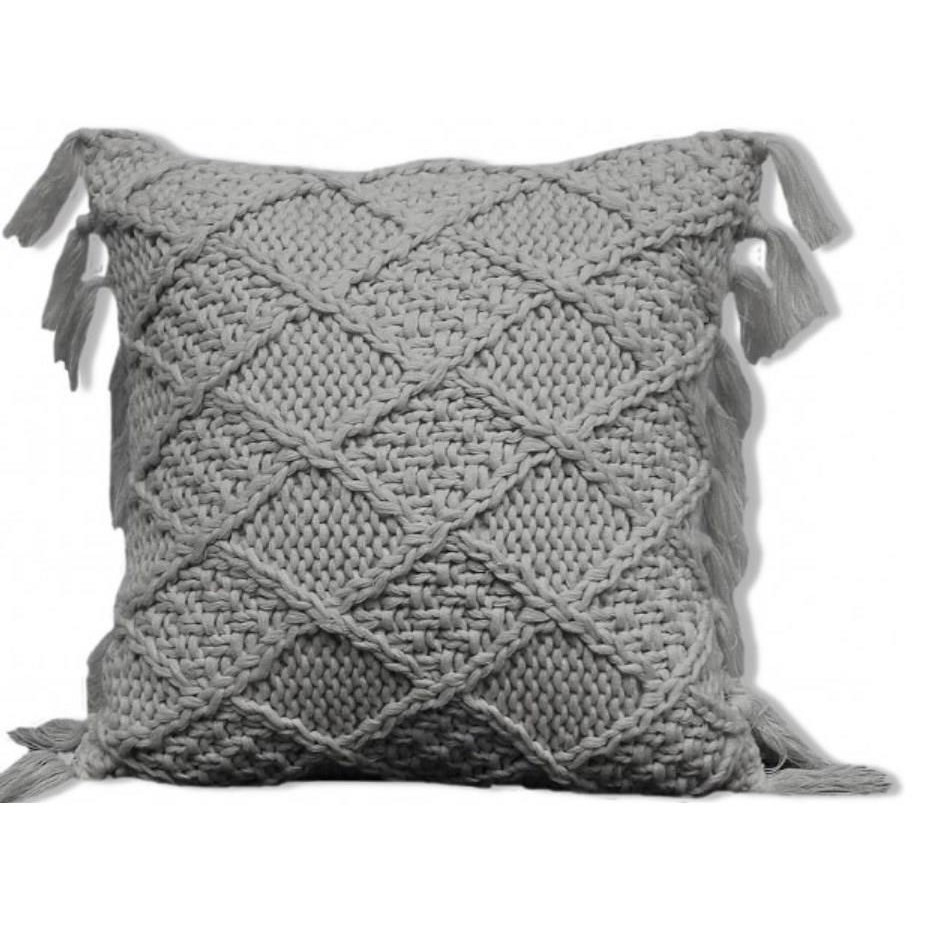 "Coachella 18"" Grey Pillow"