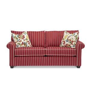12901 Two Cushion Stationary Sofa With Accent Pillows by Alan White