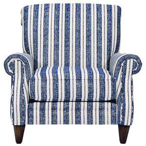 269  Occasional Chair with Fluted Wood Legs by Alan White