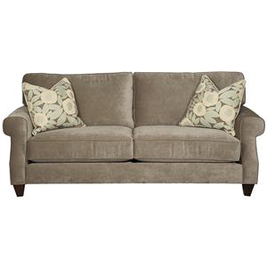 404  Stationary Two Seat Sofa with Exposed Wood Legs by Alan White